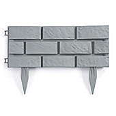 Brick Effect Garden Edging (Pack of 4) - Grey