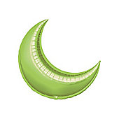 Lime Crescent Balloons - 17' Foil Balloon (5pk)
