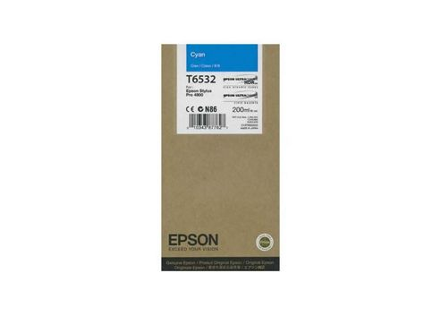 Epson T6532 UltraChrome K3 Ink Cartridge - 200ml (Cyan) for Epson Stylus Pro 4900