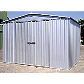 Absco 3m x 3.66m Zinc Colour Metal Shed