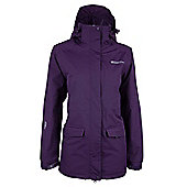 Glacier Extreme Womens Waterproof Hooded Rain Shower Proof Anorak Long Jacket - Purple