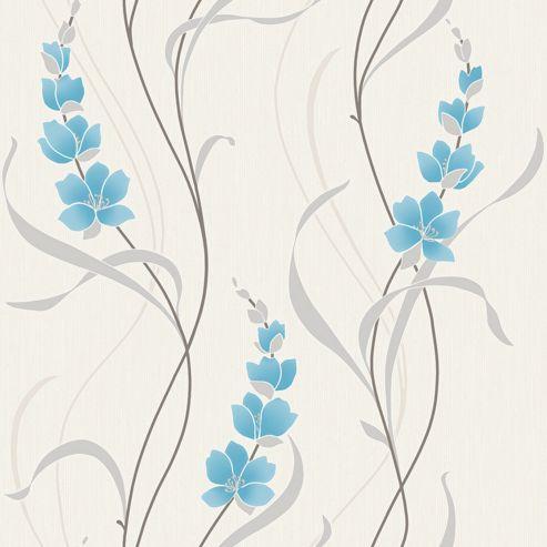 Muriva Angelica Wallpaper - Blue