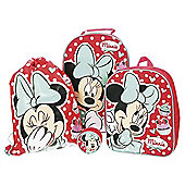 Disney Minnie Mouse 4-Piece Kids' Luggage Set