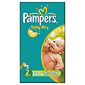 Pampers Baby Dry Size 2 Essential Pack - 60 nappies