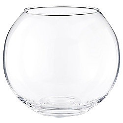 Tesco Small Glass Bowl Vase, Clear