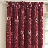 Rectella Montrose Red Floral Jacquard Curtains -229x229cm