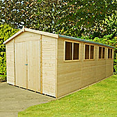 Finewood Workspace Apex Wooden Shed, 20x10ft