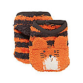 Mothercare Boy's Tiger Slipper Socks Size 3-5.5 (1-2 yrs)