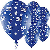 11' Birthday Perfection 50 Blue (25pk)