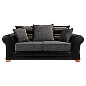 Lima fabric mix sofabed black and charcoal