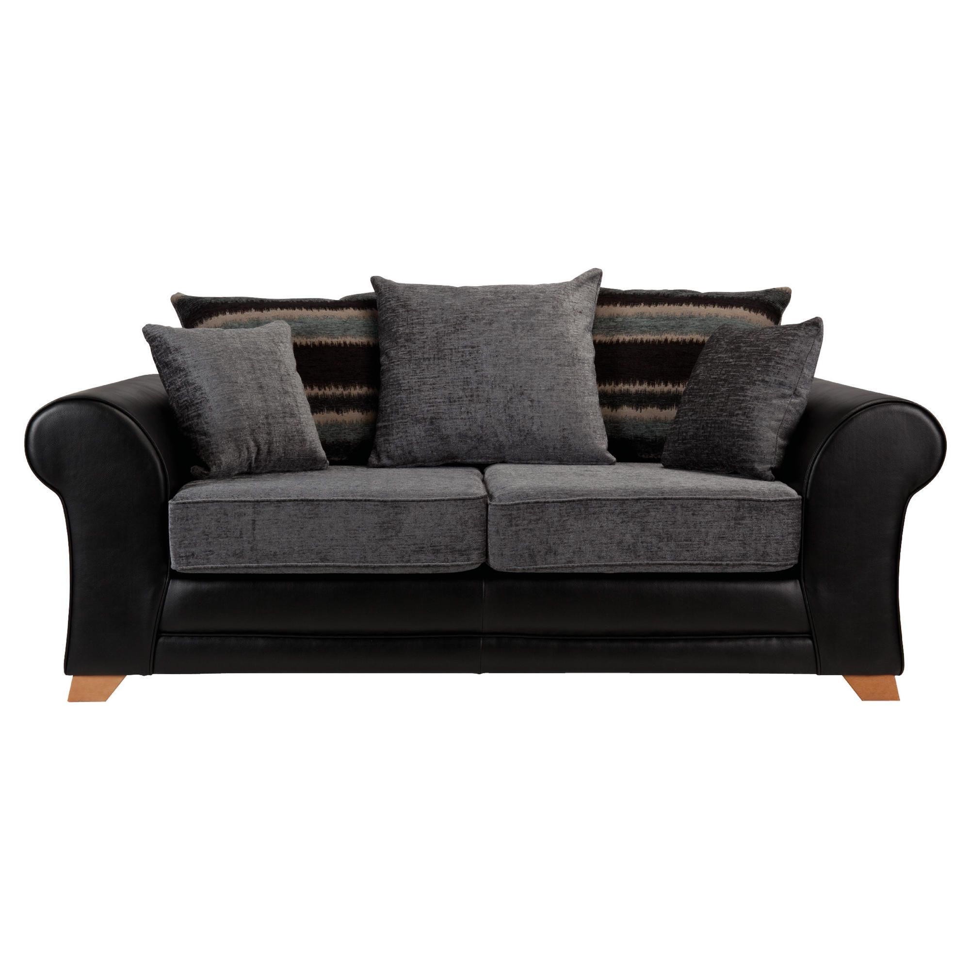 Lima fabric mix sofabed black and charcoal at Tesco Direct