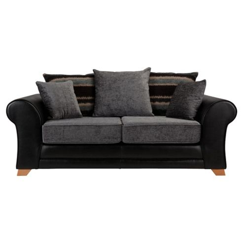 Lima fabric mix Sofa Bed, 2 Seater Sofa black and charcoal