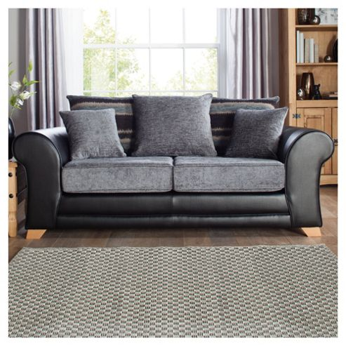 Lima fabric mix Sofa Bed black and charcoal