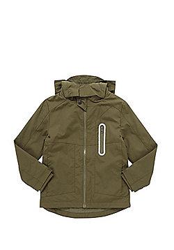 F&F Lightweight Hooded Mac - Khaki