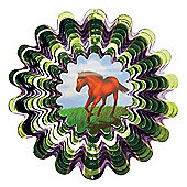 Iron Stop Designer Animated Horse Wind Spinner 10in Garden Feature