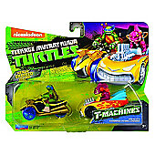 TNMT T-Machines 2 Pack - Leo In AT-3 & Fishface In Shell Crusher