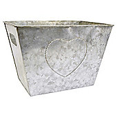 Tesco Galvanised Metal Planting Trough - H20xW28xD19cm