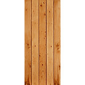 LPD Doors Nostalgia Oak Button Bead Ledged and Braced Equal Plank Interior Door - 198.1 cm H x 83.8 cm W x 3.5 cm D