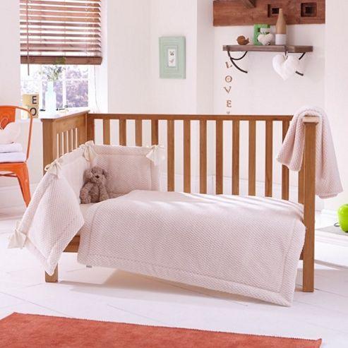 Clair de Lune 3pc Cot Bed Bedding Set (Honeycomb Cream)