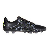 adidas X 15.4 FG Firm Ground Junior Kids Football Soccer Boot - Black