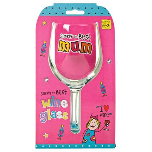 No. 1 Mum Wine Glass