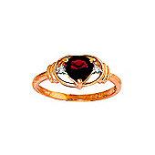 QP Jewellers Diamond & Garnet Halo Heart Ring in 14K Rose Gold