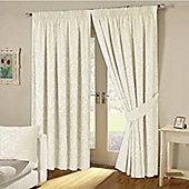 KLiving Turin Pencil Pleat Curtains 65x72 - Cream
