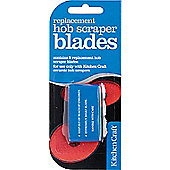 Pack of Five Stainless Steel Replacement Scraper Blades