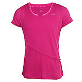 Reebok Shapewear Lux Double Layer Womens T-Shirt Tee Pink - Pink