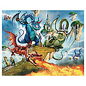 Land of Knights and Dragons Wallpaper Mural 8ft x 10ft