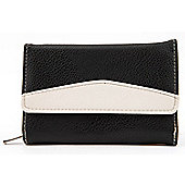 Ladies Elementz Curve Contrast Black/Cream Purse