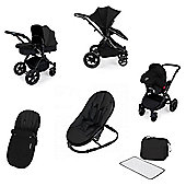 Ickle Bubba Stomp v3 AIO Travel System/Bouncer Combo - Black (Black Chassis)