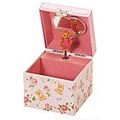 Gingham Teddy Musical Jewellery Box