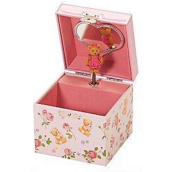 Gingham Teddy Musical Jewellery Box