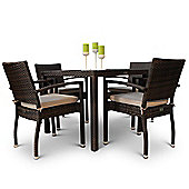 Apollo Rattan Dining Set with Glass Top Table