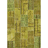 Angelo Up-Cycle Green Water Rug - 200cm x 140cm (6 ft 6.5 in x 4 ft 7 in)