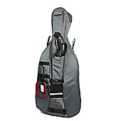 Traveller Cello Full Size Gig Bag - Red & Grey