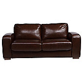 Idaho Sofa Bed, 2 Seater Sofa Leather Antique Chocolate