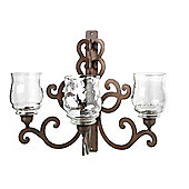 Parlane Large Wall Hanging Sconce With Three Candle Holders