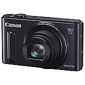 Canon PowerShot SX610 Digital Camera, 20.2MP CMOS Sensor, 18x Optical Zoom, Wi-Fi, NFC, Black
