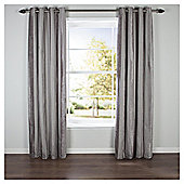 Chenille Stripe Eyelet Curtains W168xL37cm (66x54''), Latte