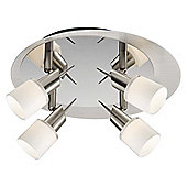 Brilliant Josie Ceiling Spotlight in Satin Chrome