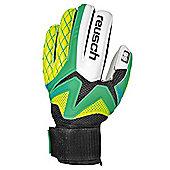 Reusch Waorani SG Finger Support Junior Goalkeeper Glove - Green / Yellow - Green