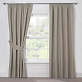 Julian Charles Luna Mocha Blackout Pencil Pleat Curtains - 90x72 Inches (229x183cm)