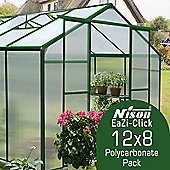 Nison EaZi-Click Greenhouse 12X8 Replacement Polycarbonate Glazing Pack