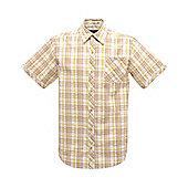 Regatta Mens Deakin Short Sleeve Shirt - Brown