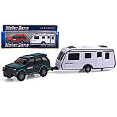 Motor Zone 1:32 Scale Car And Caravan
