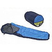 Summit Thermal Single Mummy Sleeping Bag 3 Season Blue