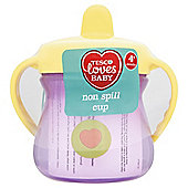 Tesco Loves Baby Non-Spill Twin-Handled Cup - 4+ months - Unisex