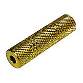 Gold 3.5mm Stereo Jack Coupler